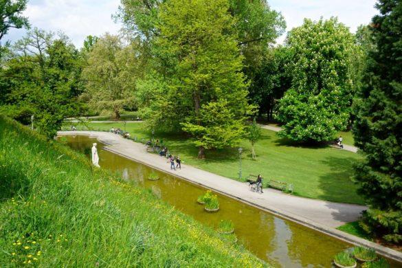 Burggarten Gardens in Graz, Austria