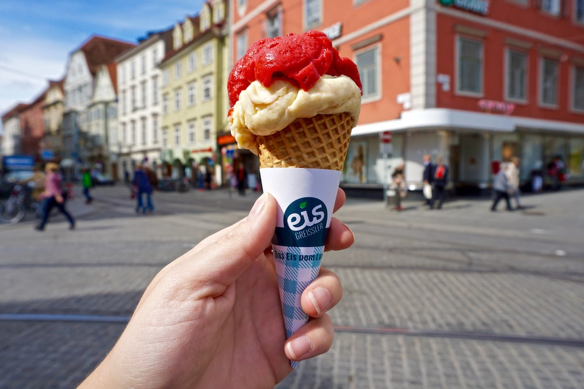 Best ice cream in Graz from Eis Greissler