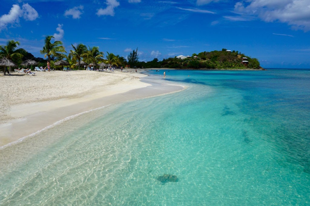 Beautiful beaches in Antigua