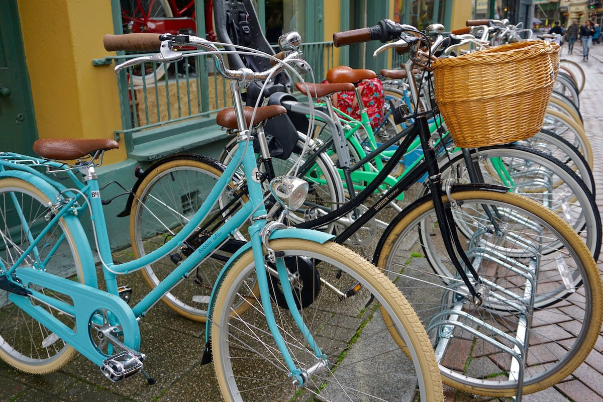 Vintage bikes at Bells Bicycles, Hastings