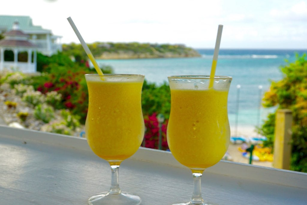 Passion daiquiris in Antigua, Caribbean