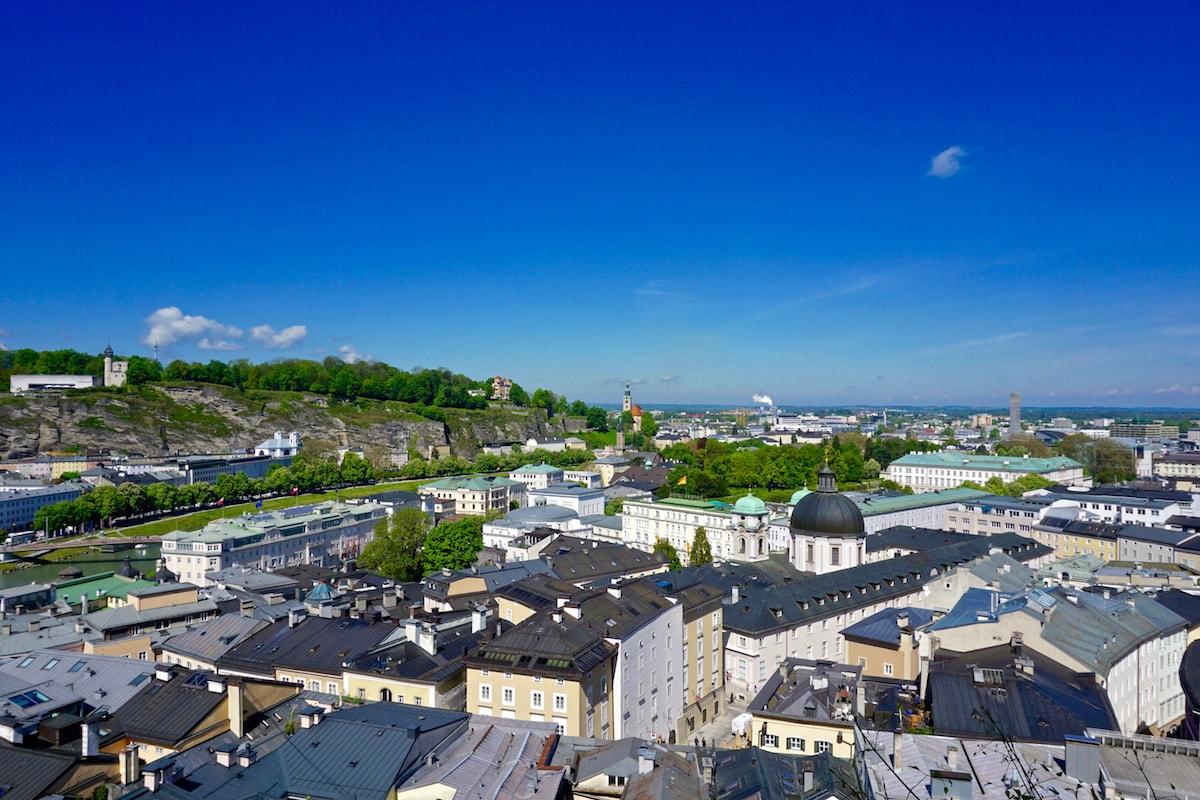 Amazing Salzburg views from Kapuzinerberg Mountain