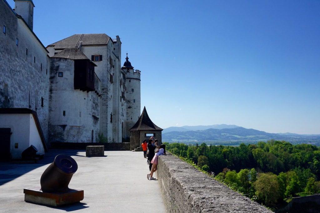 Amazing views from Hohensalzburg Fortress, Salzburg, Austria