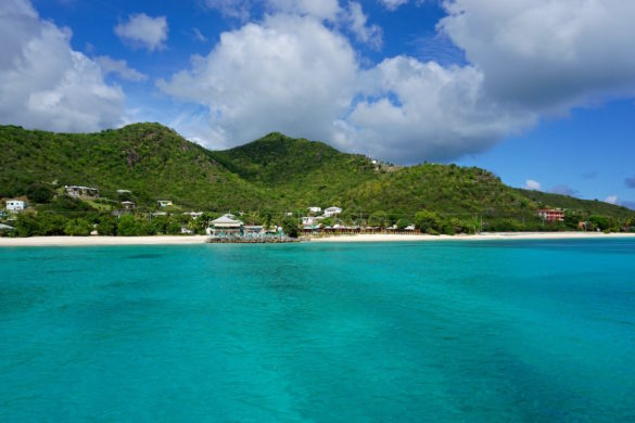 Beautiful views from the water of Antigua