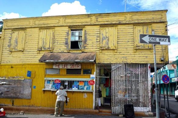 Colourful buildings in Saint John, Antigua