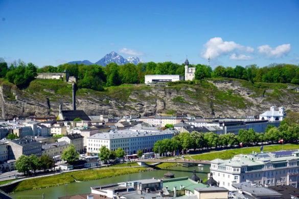 Amazing views of Salzburg from Kapuzinerberg Mountain