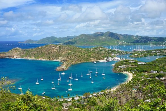 Incredible views of Antigua from Shirley Heights