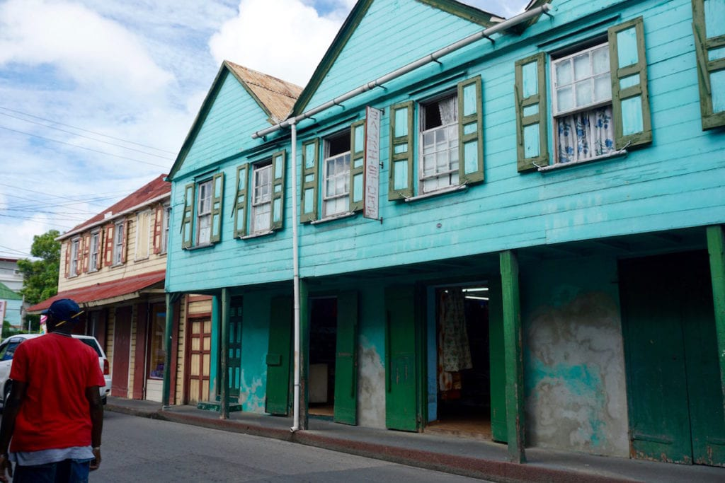 Enjoying Antigua's colourful capital St John's