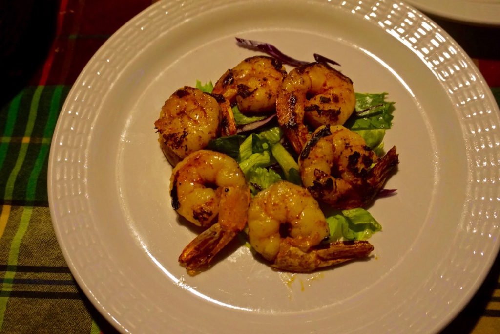 Shrimp at Papa Zouk, Antigua