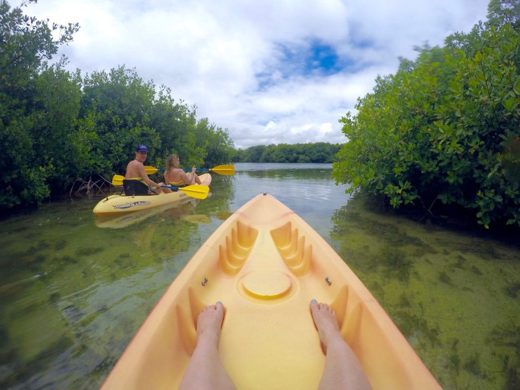 Kayaking in Antigua, Caribbean