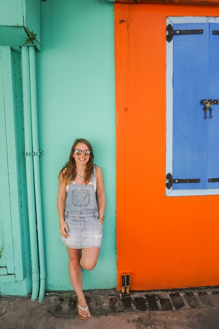 Colourful walls in St John, Antigua