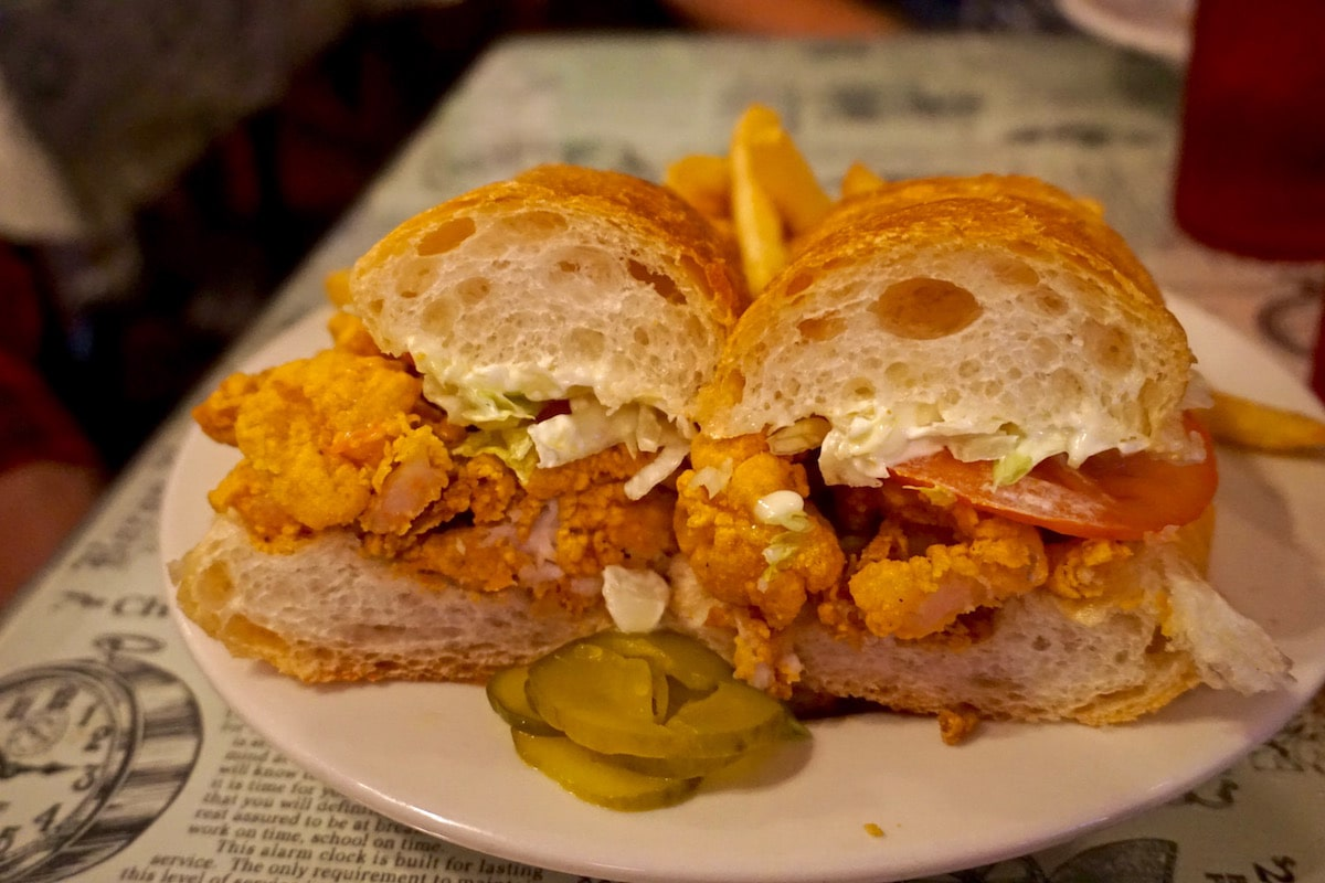 Shrimp po' boy in New Orleans