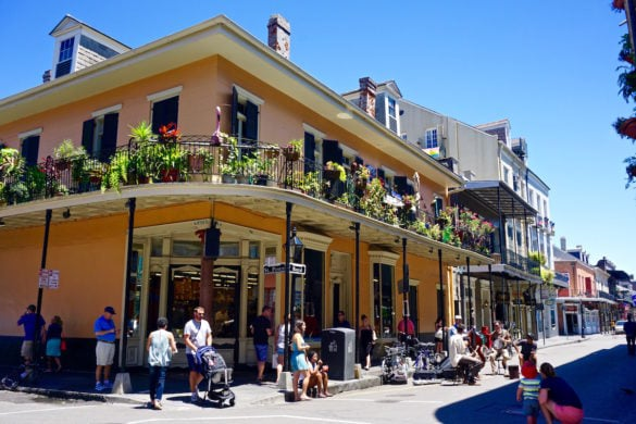 The historic French Quarter in New Orleans