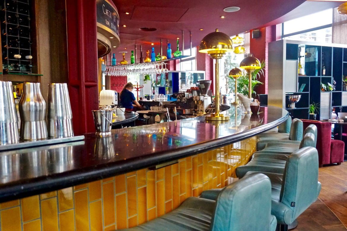 Bar area at The Zetter Hotel, London