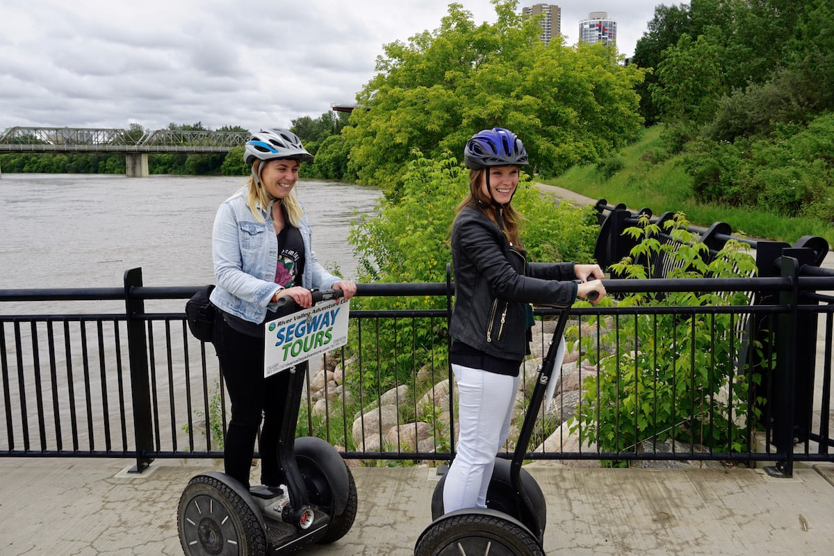 Segwaying in Edmonton, Canada