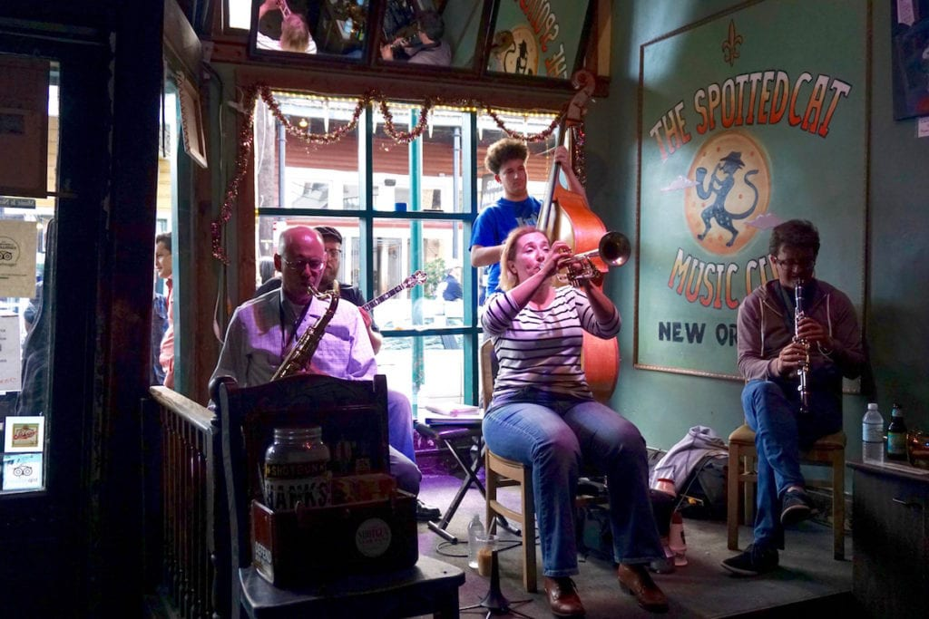 Jazz at The Spotted Cat Music Club, New Orleans