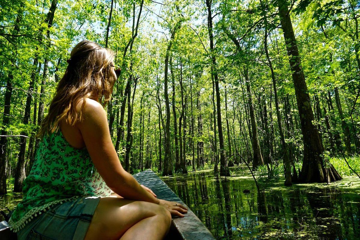 Exploring Bayou Pigeon - the swamps in Louisiana