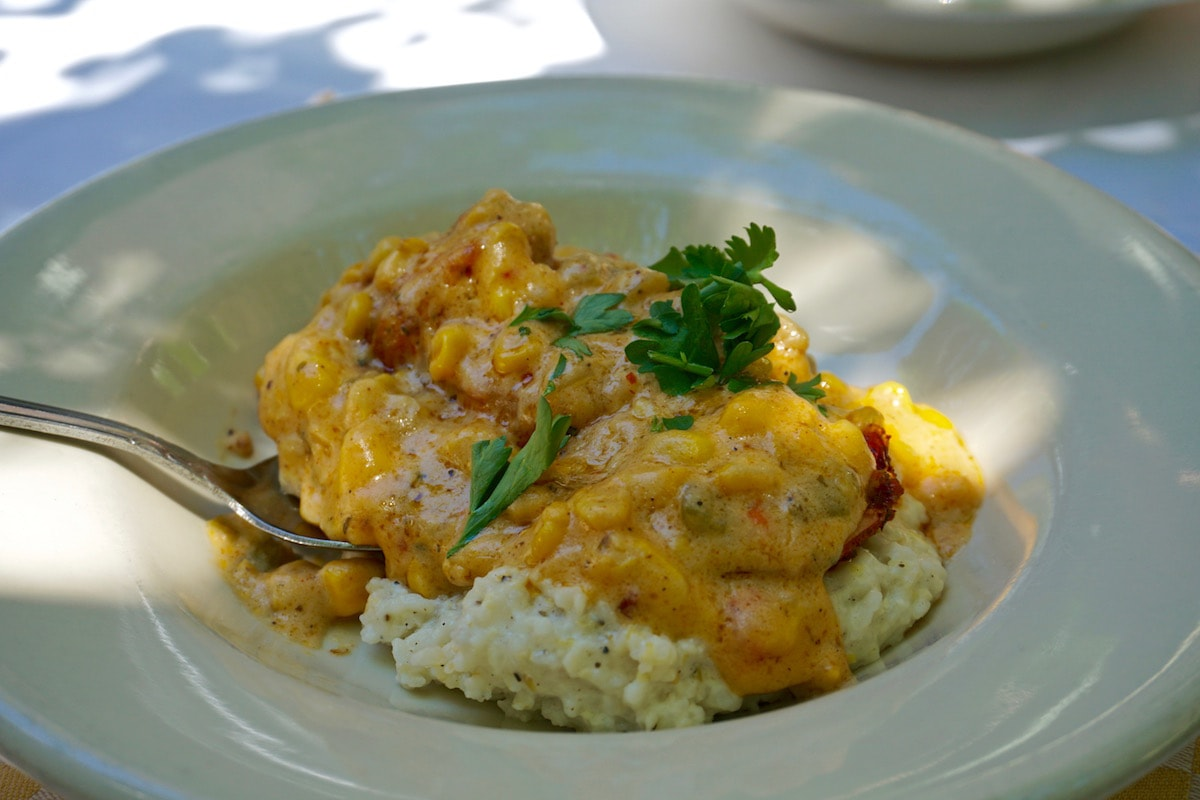 Shrimp and Grits at Cafe Amelie, New Orleans