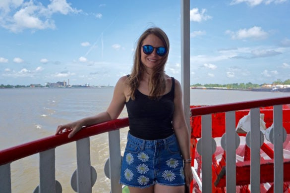 Travelling on Steamboat Natchez in New Orleans