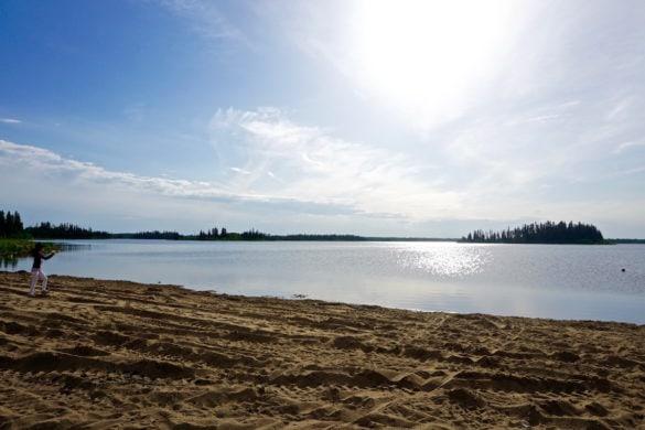 Lake Astotin in Elk Island National Park, Canada