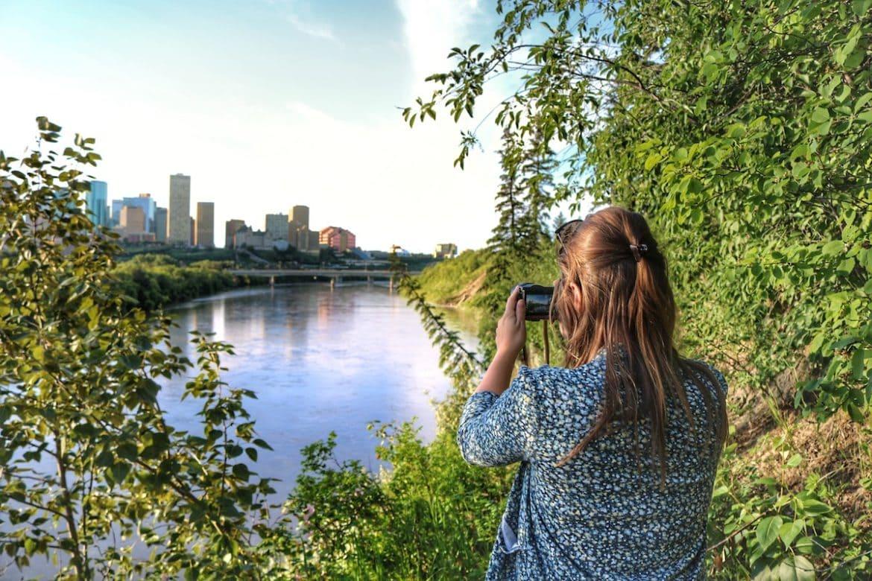 Enjoying the views in Edmonton, Canada