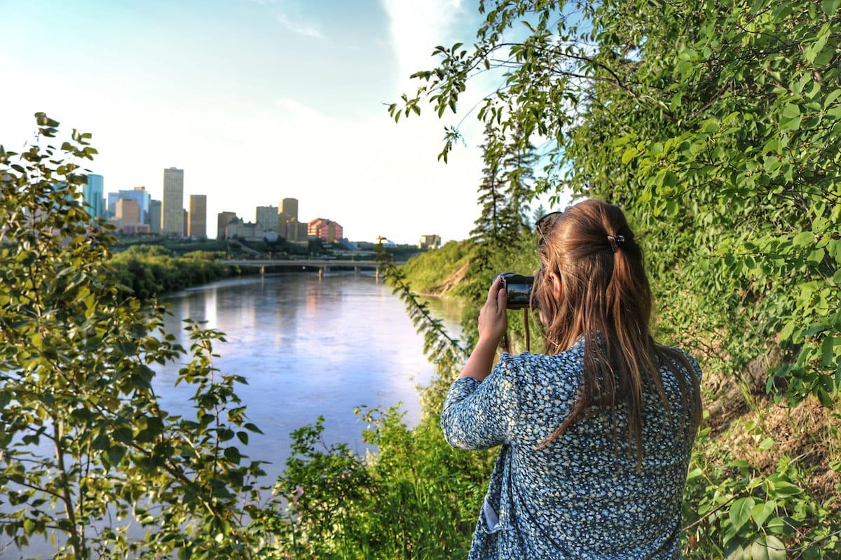 Enjoying the views in Edmonton, Canada