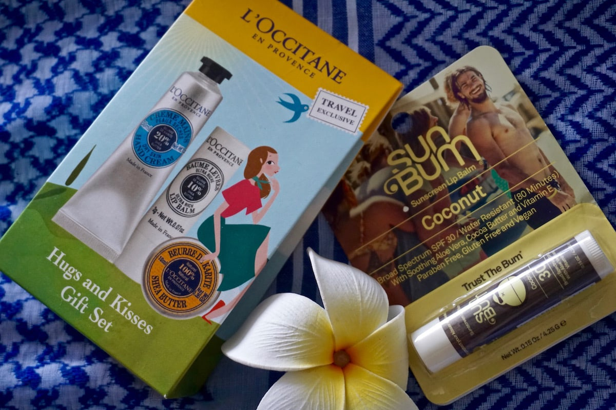 L'Occitane and Sun Bum goodies