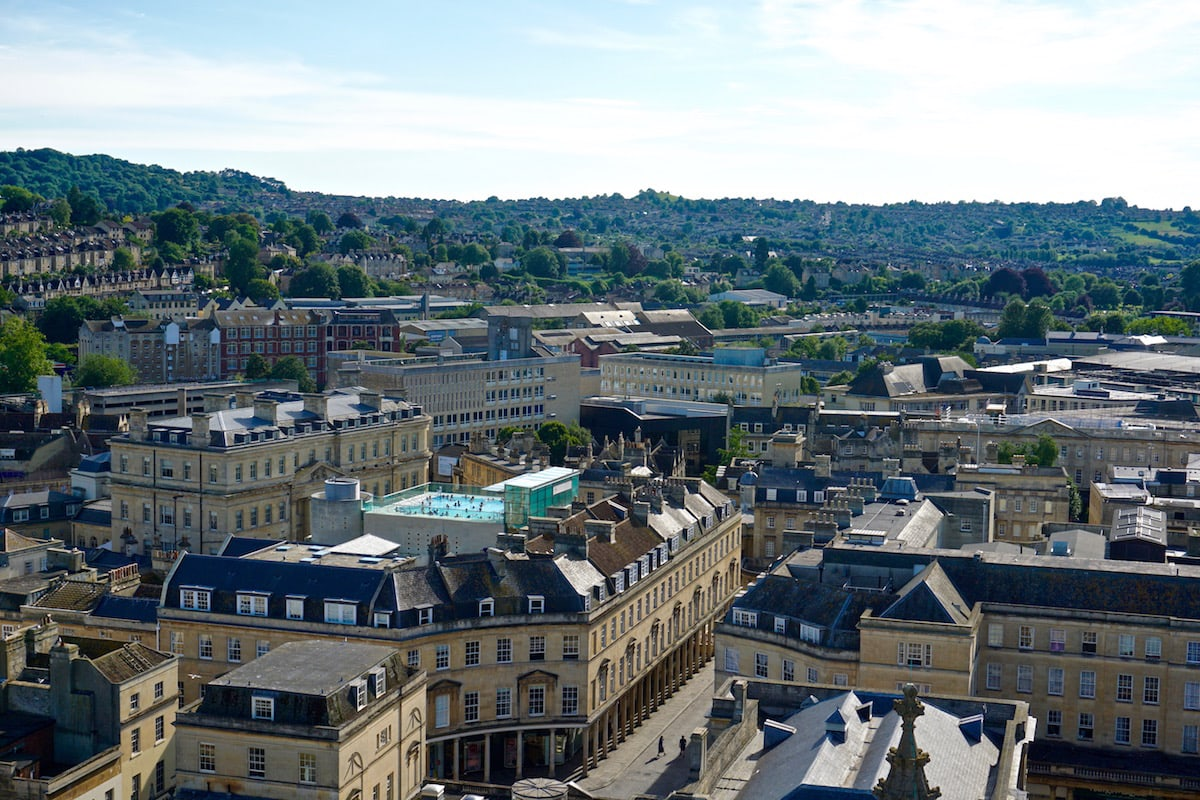 Incredible views from Bath Abbey Tower