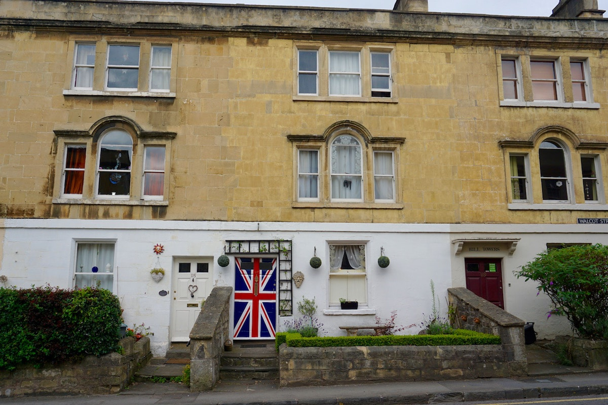 Cute house on Walcot Street, Bath