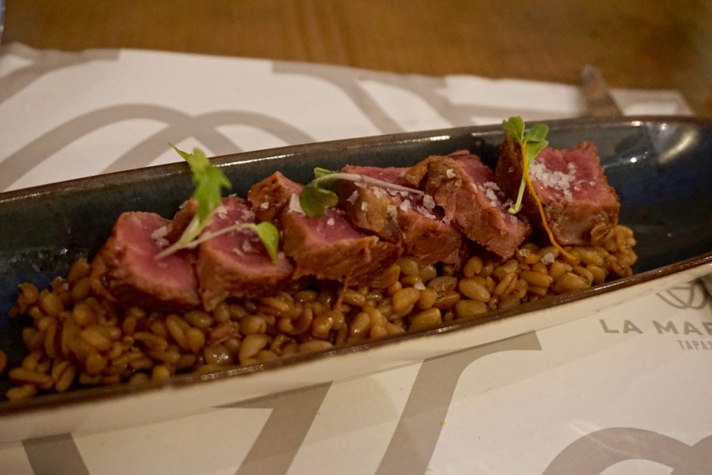 Pork with bulgar wheat at La Marmita Centro, Cadiz