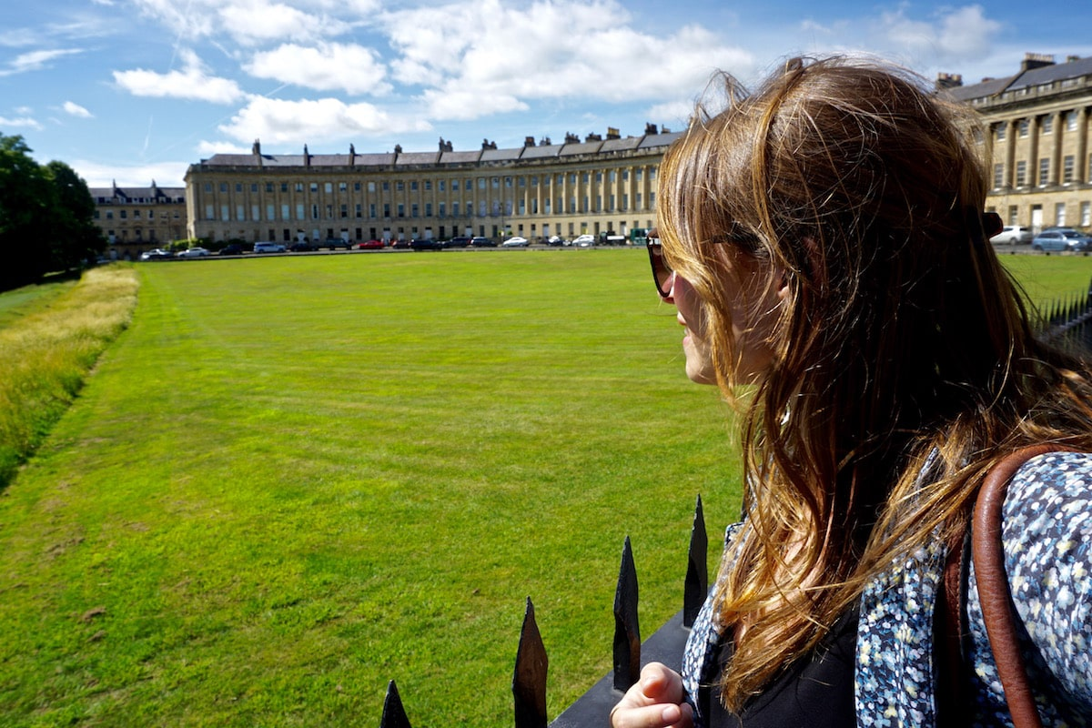 Exploring the Royal Crescent, Bath