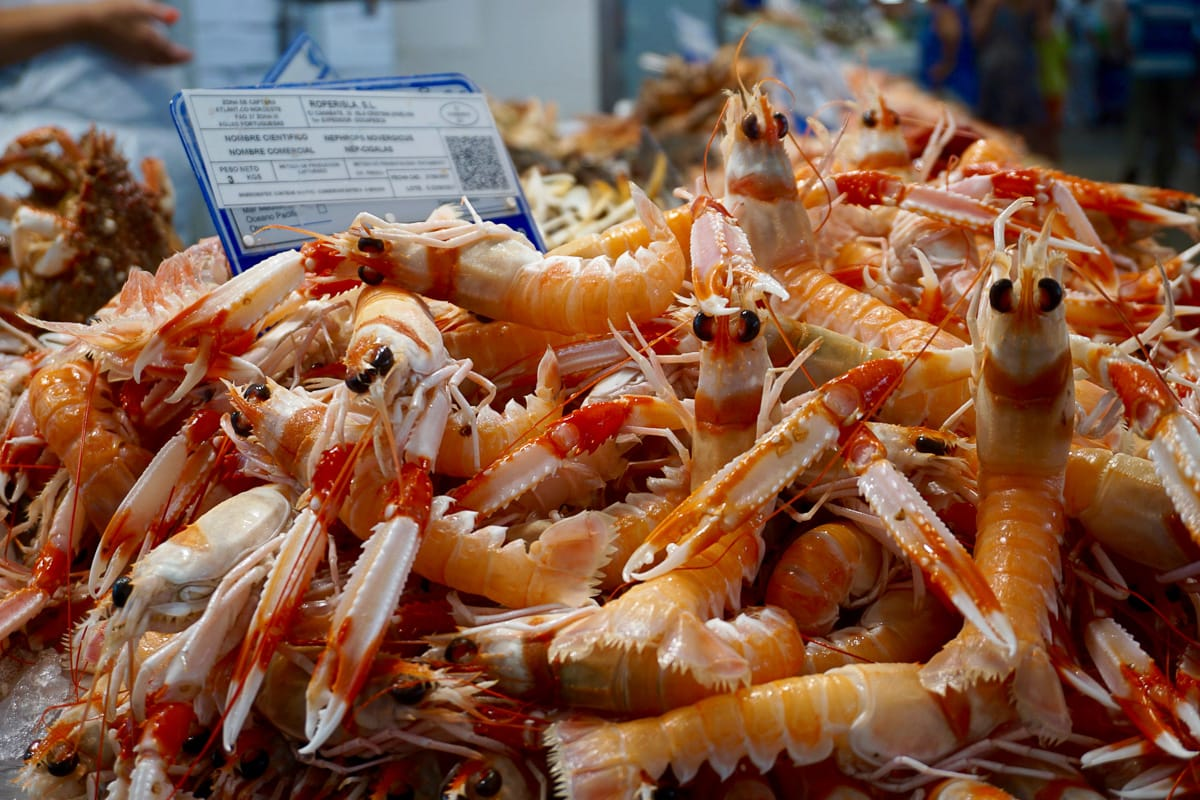 Crustaceans at Mercado Central, Cadiz