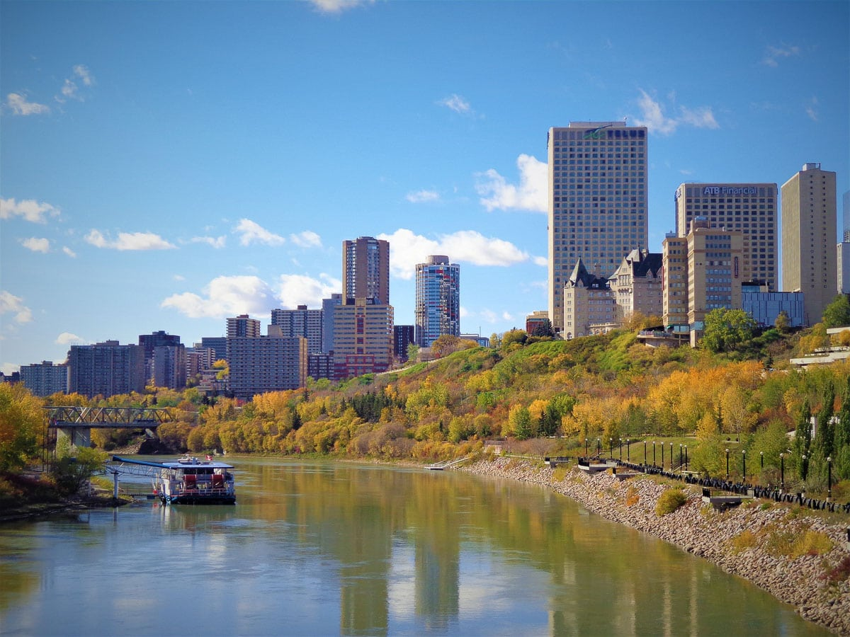 Beautiful views of the North Saskatchewan River Valley, Edmonton, Alberta