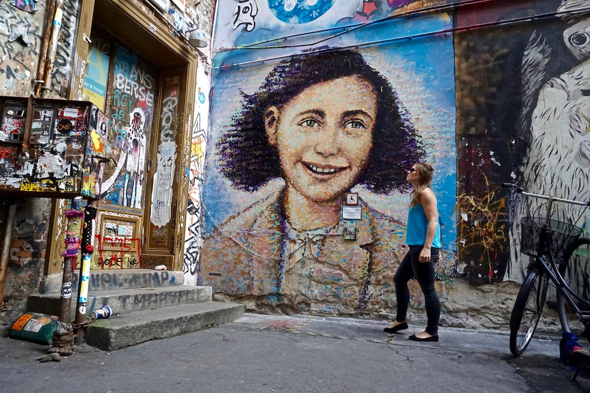 The famous Anne Frank Mural in Berlin