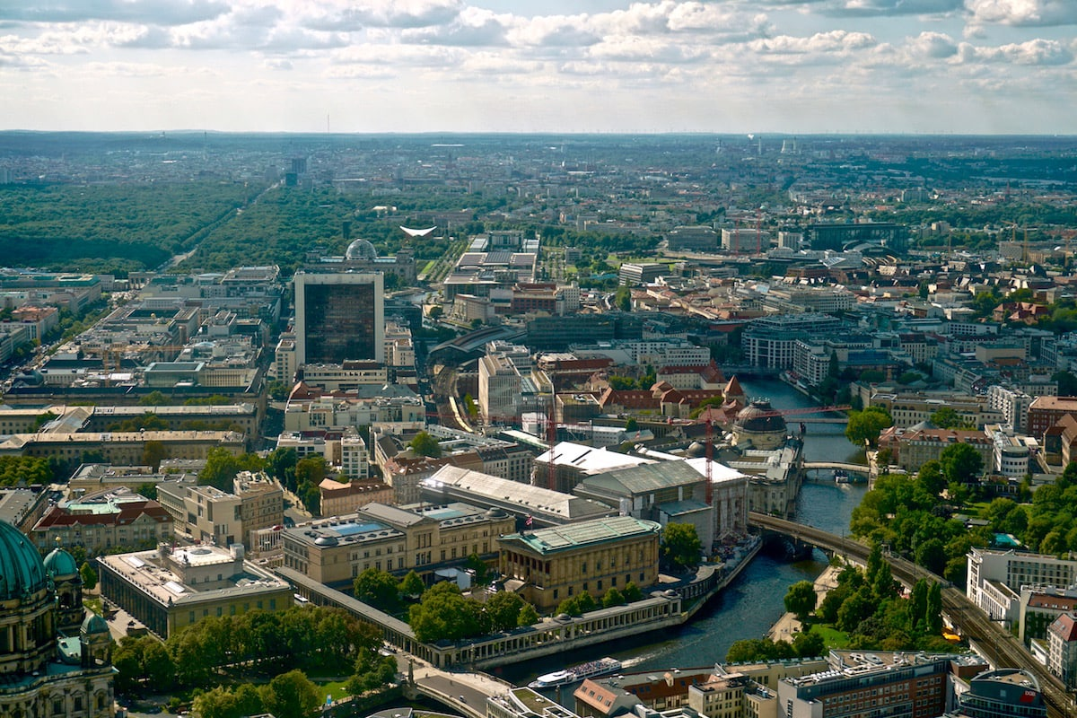 Top views of Berlin from the Fernsehturm