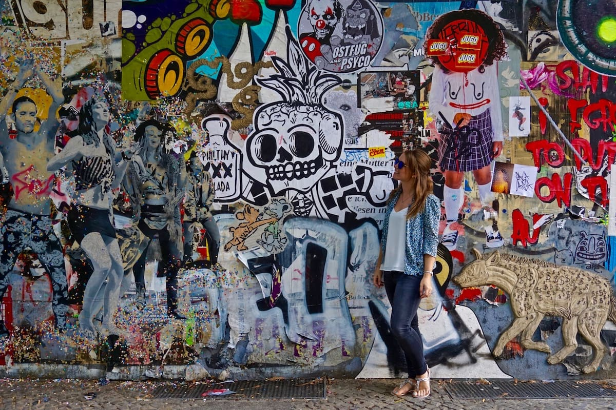 Exploring the street art of Berlin on a tour with With Locals.