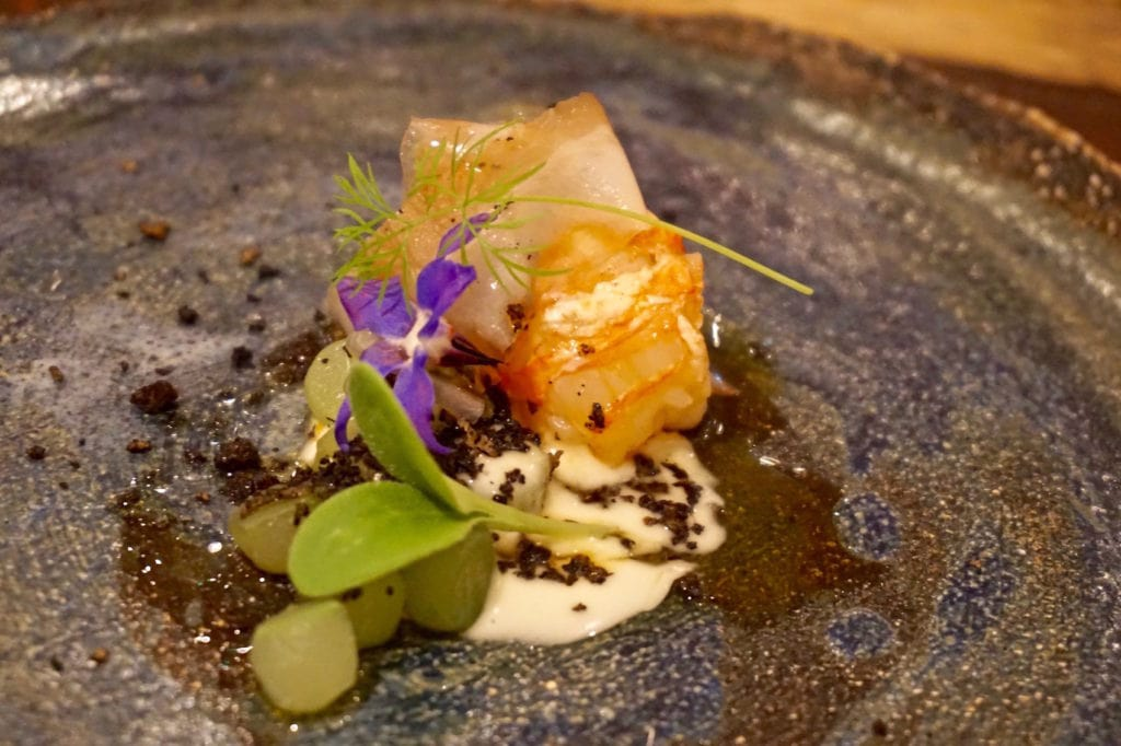 Langoustine with cucumber at The Forest Side
