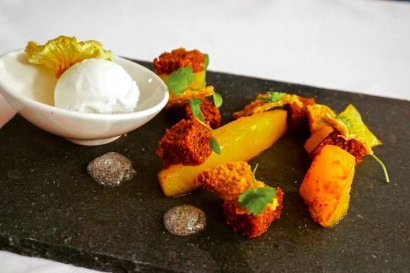 Pineapple dessert at Leathes Head Hotel