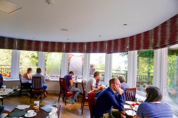 The dining room at Cottage in the Wood