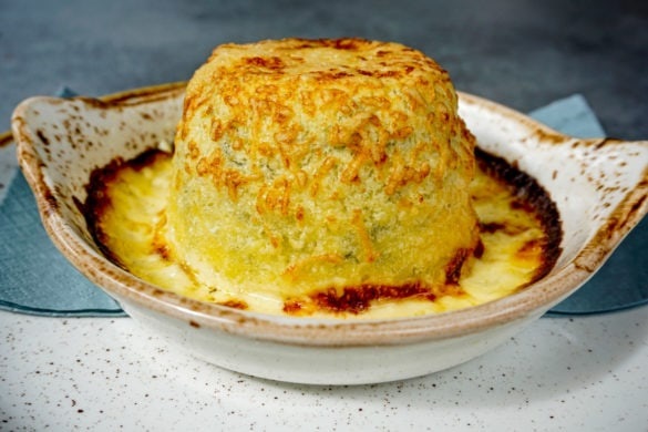 Cheese souffle at The Lakes Distillery