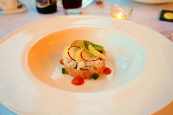 Sea trout starter at Leathes Head Hotel