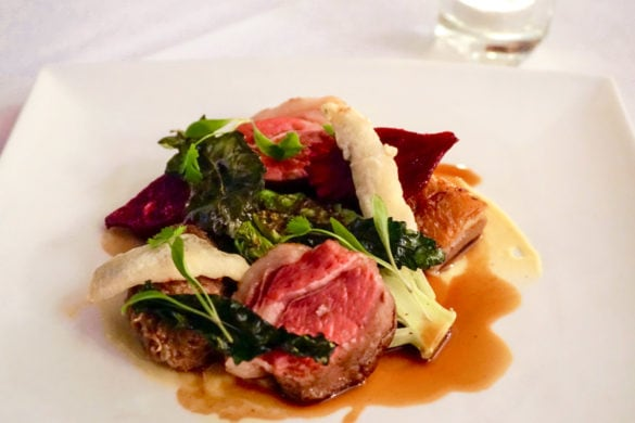 Hogget main course at Leathes Head Hotel
