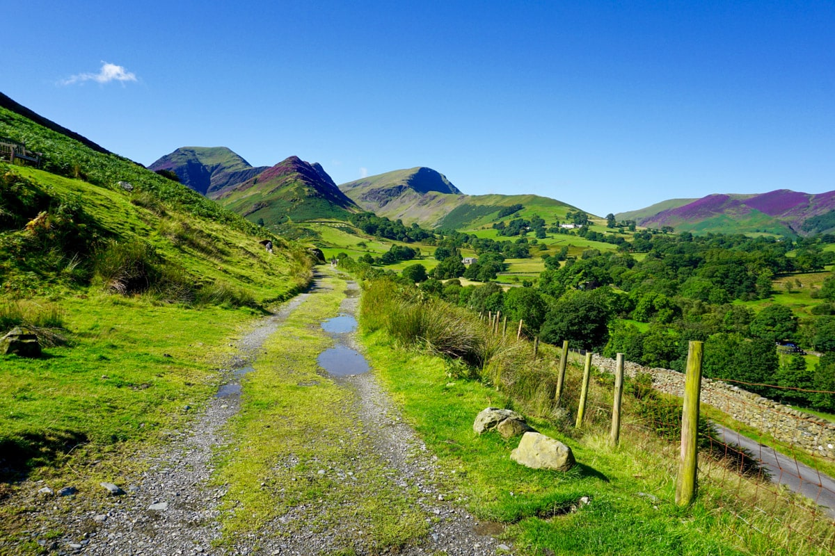 Beautiful scenery near Cat Bells in the Lake District