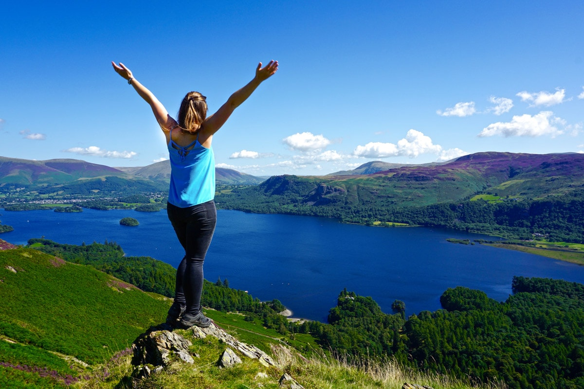 Incredible view from Cat Bells in the Lake District