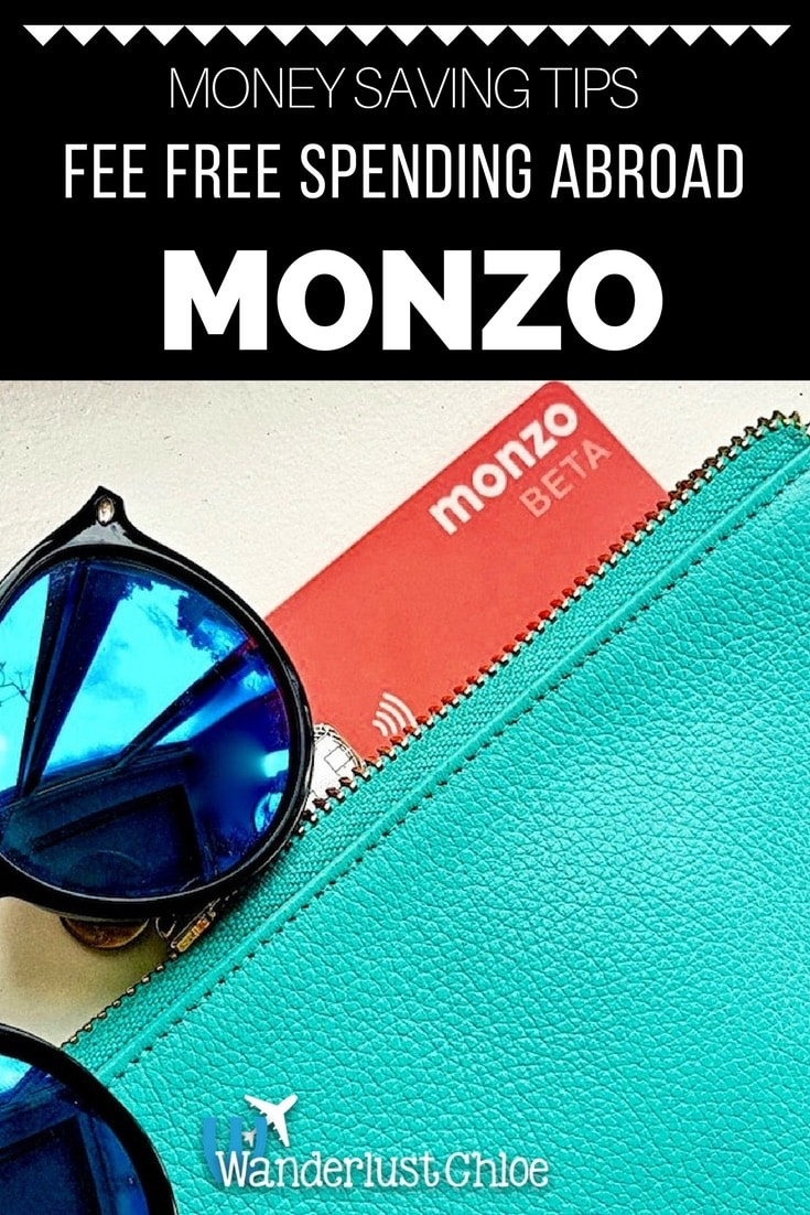 Monzo Card - Fee free spending abroad