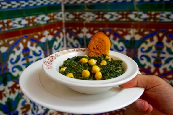 Chickpeas and spinach at Casa Ricardo, Seville