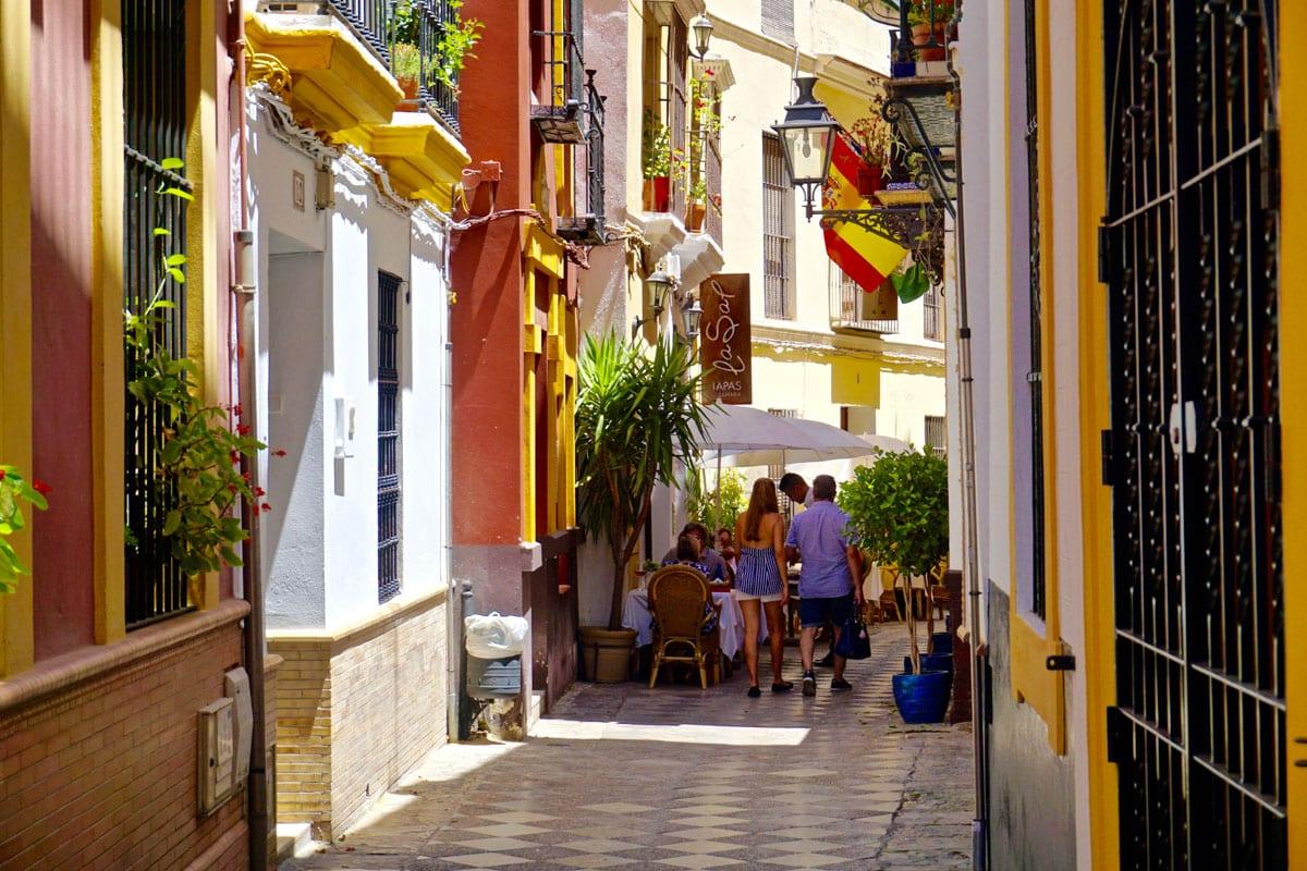 Exploring Seville's beautiful streets