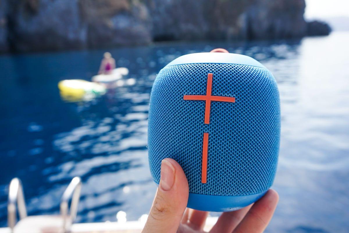 Using my Ultimate Ears Wonderboom Speaker in Sicily