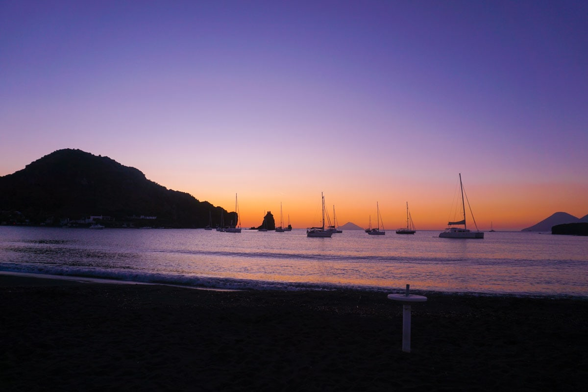 Beautiful sunsets in Vulcano, Sicily