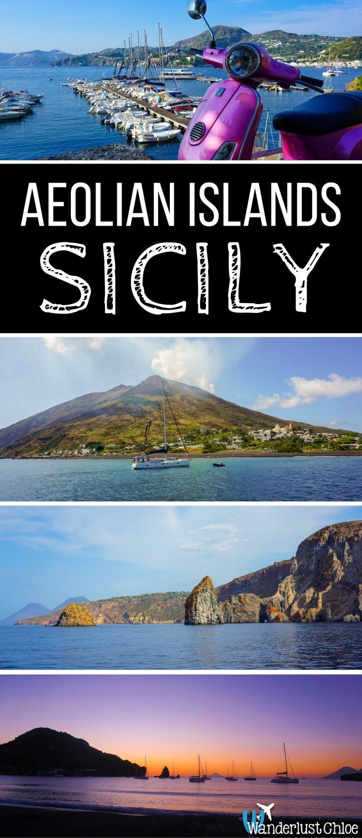 Sailing Around the Aeolian Islands in Sicily, Italy